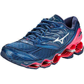 Mizuno Wave Prophecy 8 Shoes Women Blue Wing Teal/Silver/Honeysuckle